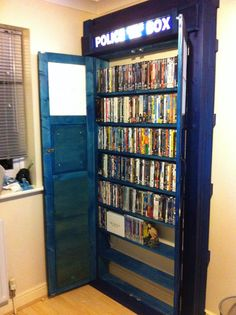 #Tardis built in bookcase. Go anywhere in time and space. I want one.