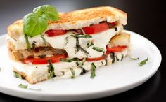 How to Make a Caprese Grilled Cheese ==> http://www.craftdiyideas.com/how-to-make-a-caprese-grilled-cheese/