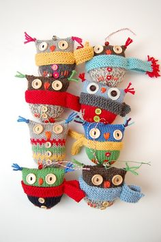 Soooo cute ....patterns can be found on ravelry