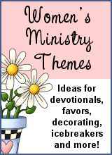 Ice Cream Social Ideas.  There are some devotional starters listed among othe ideas for this   Women's Ministry Theme.