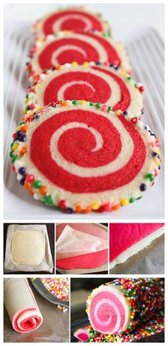 Colorful Spiral Cookies