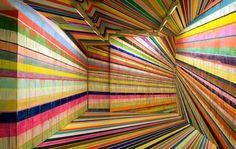 Trippy Paint/Installation by German painter Markus Linnenbrick