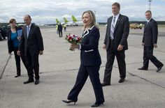 Because she breaks records. In June 2012, she visited her 100th country as Secretary of State — Latvia.