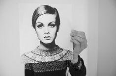 black and white peopl, designer handbags, art, white, twiggi, hair style, style icon, black, photographi