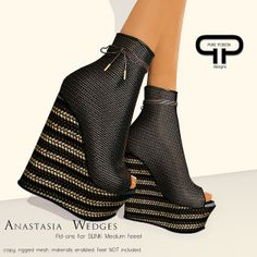 Pure Poison - Anastasia Wedges - Ad-ons for SLINK Medium Feet | Flickr - Photo Sharing!
