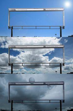 Curiosa acción de exterior: una valla que nunca falla su pronóstico del tiempo - via MarketingNews.es