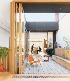 Mjölk Boutique: A third-floor courtyard stands in for a backyard