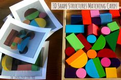 """Shape Blocks Matching Picture Cards from The Imagination Tree ("""",)"""