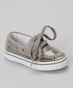 The best shoes have some sparkle. Pewter Sparkle Bahama Boat Shoe by Sperry Top-Sider! #zulilyfinds #shoelove #zulily