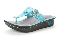 Alegria Carina Turquoise Aloha - on closeout for $59! | Alegria Shoe Shop #AlegriaShoes #Sandals #Spring2014 #Summer #closeouts