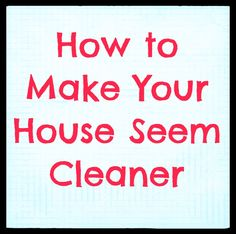 Tricks on how to keep your house clean!  #cleaning #organizing