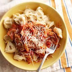 Garlic - artichoke pasta (crockpot)