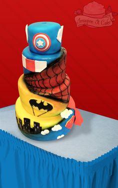 Unique Super Hero Cake - www.imagineitcake.com
