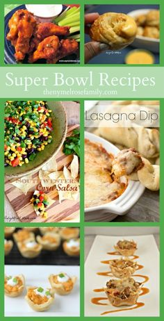 Super Bowl Recipes - are you ready for some football??