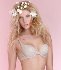 Alba Padded Underwire Bra in Almond