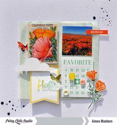 Aimee Maddern #marigold #prettylittlestudio #layout #scrapbooking