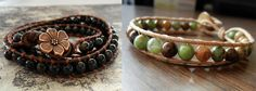Free D.I.Y Jewelry Making - How to make wrapped leather bracelet featured in Sova-Enterprises.com Newsletter!
