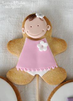 tartas y nubes de azúcar: Galletas para el Bautizo de Claudia