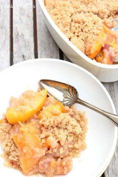 Organic Peach Crisp Recipe - Whole Lifestyle Nutrition peach crisp, organ peach, dessert