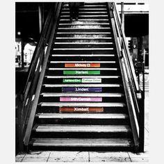Subway Steps Metal Print 24x20, $89.