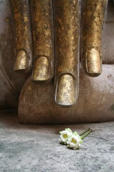 The moment when Buddha face the demons and was enlightened by touching the soil with the tip of his finger. Beautiful.