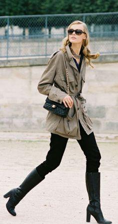 jacket, fashion weeks, paris fashion, street style, black boots, pari fashion, frida gustavsson, black jeans, trench coats