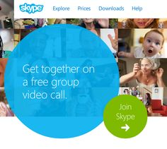 Skype - Free video conferencing for up to 10 people (no Premium version required since April 28th 2014) - www.Skype.com