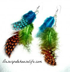 Feather Earrings Tutorial