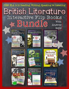 British Literature Collection: Interactive Layered Flip Books Bundle - Macbeth, Othello, Romeo and Juliet, Hamlet, A Christmas Carol, Lord of the Flies, Beowulf, The Canterbury Tales, and Frankenstein ($)