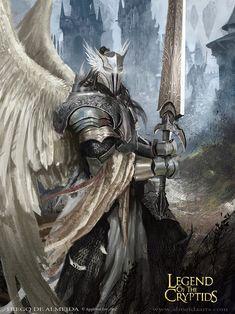 warrior, angel, knights, illustrations, charact, legend, cryptid, fantasi art, light