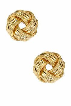 Love Knot Stud Earrings in Gold.