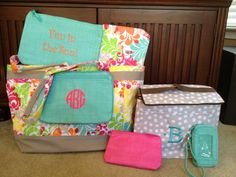 Great summer solution set: Easy Breezy Tote, Pocket a Tote, mini thermal zipper, Out and About Thermal, Zipper pouch, Thermal Zipper Pouch, Wristlet Wallet