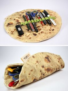 tortilla, burrito, pitas, office supplies, the office, breads, pencil cases, funny commercials, pencil holders