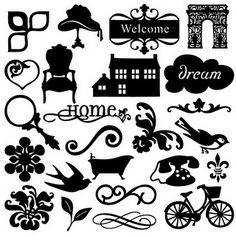 Free SVG cut files from the Home Decore Cricut cartridge.