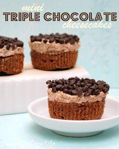 Triple Chocolate Cheesecakes