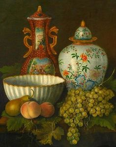 Unknown (German), Still Life with Fruit and Decorative Objects, 1890
