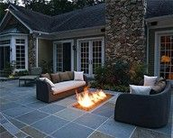 outdoor fireplace <3