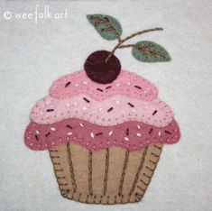Please With A Cherry On Top Applique Block | Wee Folk Art