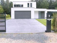Gepolierde beton terras kleuren