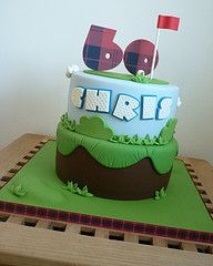 birthday golf, distance, cleanses, 60th birthday, golf cakes, birthdays, themed cakes, designer cakes, birthday cakes