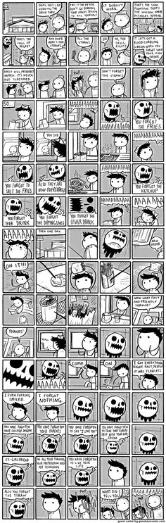 Pictures for sad children - the skull of regret