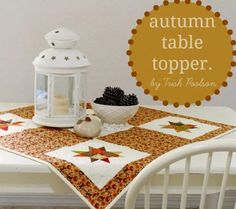 Moda Bake Shop: Autumn Table Topper by Trish Poolson of Notes of Sincerity.  @modafabrics