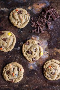 Double Trouble Chocolate Chunk Peanut Butter Honey Cookies | halfbakedharvest.com @hbharvest