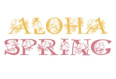 Hibiscus published by Electric Typographer. #fonts #spring #flowerpower