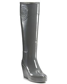 "Hunter Boot ""Champery"" Wedge Rain Boots