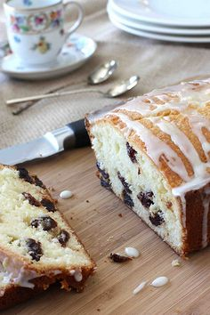 Lemon & Dried Cherry Quick Bread Recipe...Perfect with a cup of coffee or tea!    cookincanuck.com