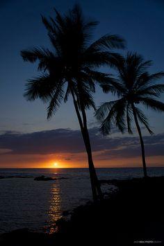 Big Island sunset, Hawaii
