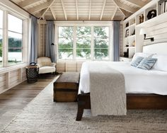 lake houses, rustic bedrooms, beds, window, architecture interiors, master bedrooms, cottage bedrooms, light, bedroom designs