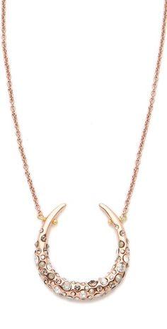 encrusted horseshoe necklace