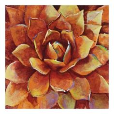 ''Sunset Agave'' Canvas Wall Art by Georgie